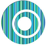 Seamless striped abstract background. Vector illustration Royalty Free Stock Photography