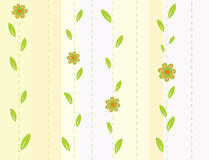 Seamless striped background with flowers Stock Photos
