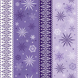 Seamless striped christmas pattern Royalty Free Stock Images
