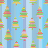 Seamless Striped Christmas Trees Royalty Free Stock Photo