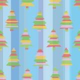 Seamless Striped Christmas Trees. A seamless pattern of uniquely striped Christmas trees Royalty Free Stock Photo