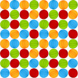 Seamless striped Circles pattern Stock Image