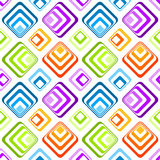 Seamless striped diamonds background pattern. Colorful diamonds with stripes or squares geometric pattern. Seamless Tile Royalty Free Stock Photography