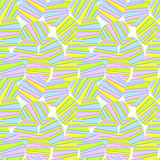 Seamless Striped Easter Eggs. Decorated esater eggs with pastel stripes Royalty Free Stock Image
