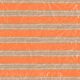 Seamless striped ethnic background. Orange color. Texture. Vector illustration. Drawing by hand Royalty Free Stock Images