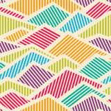 Seamless Striped Geometric Pattern Royalty Free Stock Photography