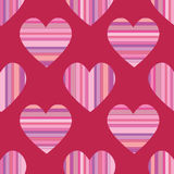 Seamless Striped Hearts Royalty Free Stock Photo