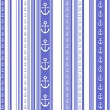 Seamless striped pattern with anchor motif Royalty Free Stock Photo