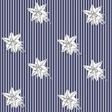 Seamless striped pattern with black and white lilies in vector. Print for fabric. Scandinavian style.  royalty free illustration