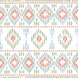 Seamless striped pattern. Ethnic and tribal motifs. Vintage print, grunge texture.Simple ornament. Handmade. White, gray, pink. And blue colors. Vector stock illustration