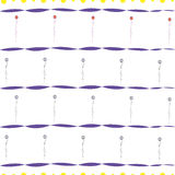 Seamless striped pattern with floral ornament Stock Photos