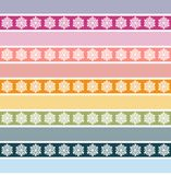 Seamless striped pattern with floral ornament Stock Photo