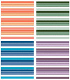 Seamless Striped Pattern. Four color variations Stock Photo