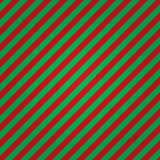 Seamless striped pattern in green and red colors. Vector illustration Stock Photography