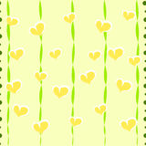 Seamless striped pattern with hearts Stock Images