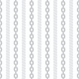 Seamless striped pattern with ropes and chains. Royalty Free Stock Image