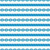 Seamless striped pattern with ropes and chains. Stock Photos