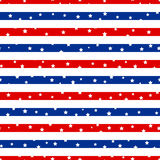 Seamless striped pattern with stars Royalty Free Stock Photos