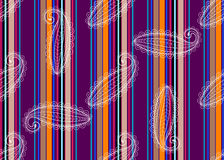 Free Seamless Striped Pattern With Translucent White Lace Paisley Stock Images - 81365304