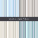 Seamless striped patterns. Line backgrounds set. Abstract illustration for decoration, fabric, concept design Stock Image