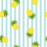 Seamless striped pineapple geometric pattern, vector illustration vector illustration