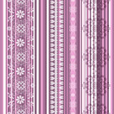 Seamless striped pink pattern Royalty Free Stock Images