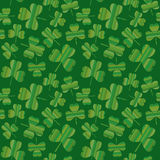 Seamless Striped Shamrocks Stock Images