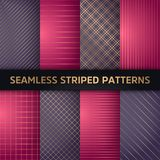 Seamless striped vector patterns, white and grey texture.  vector illustration