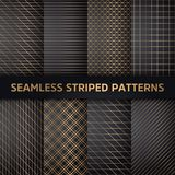 Seamless striped vector patterns, white and grey texture.  stock illustration