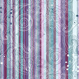 Seamless striped vintage pattern Royalty Free Stock Photography