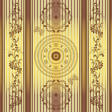 Seamless striped vintage pattern Stock Photography
