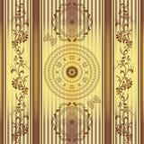 Seamless striped vintage pattern Stock Photography