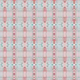 Seamless stripes and ellipses pattern white pink brown turquoise gray Stock Photo