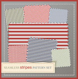 Seamless stripes pattern set Royalty Free Stock Photos
