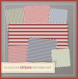 Seamless stripes pattern set. Seamless colorful stripes pattern set Royalty Free Stock Photos