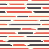 Seamless strips pattern. Horizontal lines with torn and stuck paper effect. Vector illustration Stock Photos