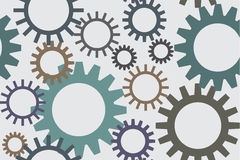 Seamless structure with gears Royalty Free Stock Photo