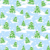 Seamless Structure On A Winter Theme Stock Image