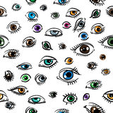 Seamless structure on which eyes Stock Photos