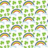 Seamless Sts Patrick dag mönstrar Ändlös bakgrundstextur också vektor för coreldrawillustration Arkivfoton