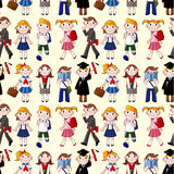 Seamless student pattern Stock Images