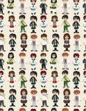 Seamless student pattern Stock Photos