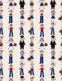 Seamless student pattern Stock Photo