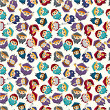 Seamless student pattern Royalty Free Stock Photography
