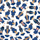 Seamless student pattern Stock Photo