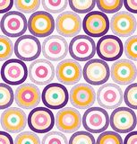 Seamless Stylish Colorful Abstract Spots & Dots Pattern Surface Design royalty free illustration
