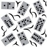 Seamless stylish dominoes pattern. Abstract stylish background. Stock Photography