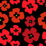Seamless stylish floral background of red poppies. Seamless stylish floral background of a red poppies Stock Photo