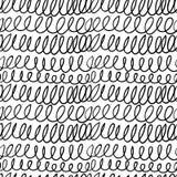 Seamless stylish hand drawn pattern Royalty Free Stock Image