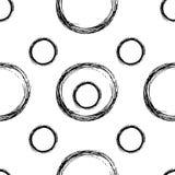 Seamless stylish hand drawn pattern Stock Photos